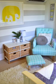31 girl bedroom ideas that aren't princess pink. Perfect if you're looking for nursery interior design inspiration, or you're redesigning your kids' room decor. Nursery Room, Girl Nursery, Nursery Decor, Bedroom Decor, Bedroom Ideas, Nursery Ideas, Elephant Nursery, Animal Nursery, Nursery Prints