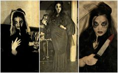 """This time last year, I was """"The Woman In Black"""". Dress and Make-up entirely created and made by myself."""