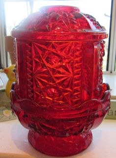 Pottery & Glass Steady Indiana Glass Rose Pink Diamond Point Fairy Lamp Rich And Magnificent