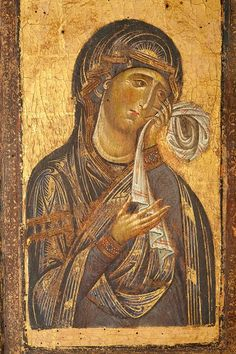 Byzantine Icon of Mary Religious Images, Religious Icons, Religious Art, Byzantine Icons, Byzantine Art, Madonna, Our Lady Of Sorrows, Images Of Mary, Christian Artwork