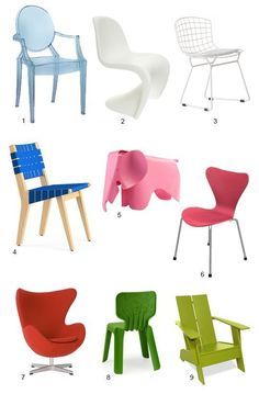 Yes, yes, yes. Children need great furniture too :: Mini Modern: 9 Classic Children's Chairs