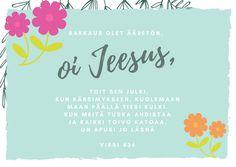 Oi Jeesus, Virsi 436, virsi, virsiä, virret, virsikirja, kuvavirsi, virsikortti, Herra, Jumala