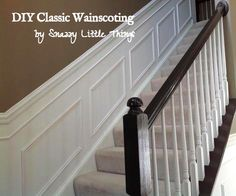 DIY Wainscoting Tutorial - by Snazzy Little Things