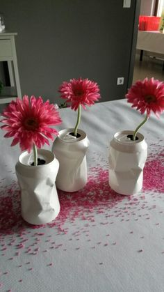vase / cannette / can / peint / too cute