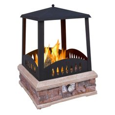 LANDMANN Grandview 24 in. Propane Gas Outdoor Fireplace-22812 - The Home Depot