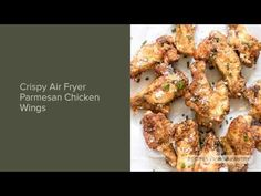 Forget the oil, these Air Fryer Chicken Wings with Parmesan will be the crispiest you have ever had. Parmesan Chicken Wings, Crispy Chicken Wings, Air Fryer Chicken Wings, Garlic Chicken, Keto Chicken, Fried Chicken, Air Fryer Oven Recipes, Air Frier Recipes, Air Fryer Dinner Recipes