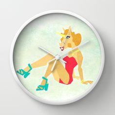 Pin Up Unicorn Wall Clock