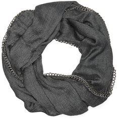 Vince Camuto All Chained Up Loop Scarf ($30) ❤ liked on Polyvore featuring accessories, scarves, round scarf, tube scarf, loop scarves, tube scarves and woven scarves