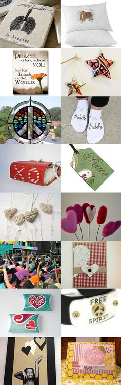 Love, Peace, and Yoga by Kathy Lindemer on Etsy--Pinned with TreasuryPin.com