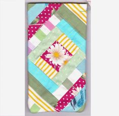 Handmade vintage style patchwork flower mobile phone cover
