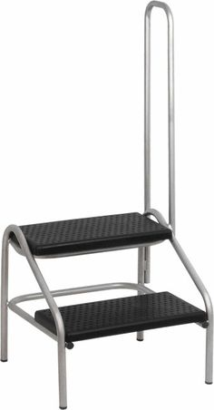 Step Stool With A Long Handle Has A Steady Base For