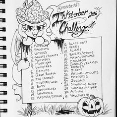 Decided to make my own #Inktober prompts this year !! Feel free to use it yourself too ;3 tag your inktober stuffs to #meotashiinktoberchallenge2016 so i can see them if you do use my prompts !! incase you dont know what this is: inktober is a pun off October for artists !! Basically, you draw something according to the daily prompt, and the idea is to draw it in ink ! Be creative and think outside the box you dont have to celebrate Halloween in order to participate