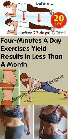 Four-Minutes a Day Exercises Yield Results In Less Than A Month