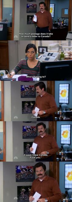 My new favorite scene from PandR. The smile at the end really brings it all together. Sorry Canada... - Imgur