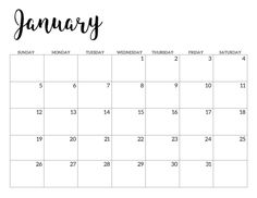 2020 Calendar Printable Free Template – Paper Trail Design – The best ideas January Calendar, School Calendar, 2021 Calendar, October Calendar Printable, December, Print Calendar, Calendar Pages, Blank Calendar, Free Calendars To Print