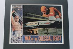 WAR of the CLOSSAL BEAST 1958 - 1950s Film Poster Print B-Movie Movies Movie Poster Science Fiction Film Outer Space Fantasy Lobby Card Moon by VintagePrintageArt on Etsy