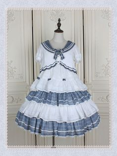 Custom Size Available Ode of Sunny Sea High-waist Set by Hinana QueenPre-order ends August, 2019 jsk Mode Lolita, Rainbow Galaxy, Estilo Lolita, Real Costumes, Jumper Dress, Lolita Dress, Lolita Fashion, Couture, Beautiful Outfits