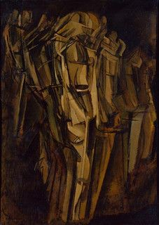Nude, Sad Young Man on a Train, 1911-12, Marcel Duchamp