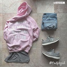 Today's top #outfitgrid is by @kvssem. ▫️#AntiSocialSocialClub #Hoodie…