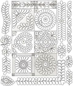 Machine Quilting Templates for Beginners - Bing images Patchwork Quilting, Quilt Stitching, Longarm Quilting, Free Motion Quilting, Quilting Rulers, Quilting Tools, Quilting Stencils, Quilting Templates, Quilting Tutorials