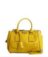 Burberrybright straw textured calf leather handbag