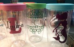 Girlie weekend traveling wine glasses!
