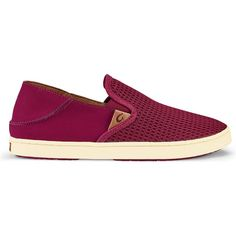 OluKai Women's Pehuea Pokeberry Athletic Shoes & Sneakers (105 CAD) ❤ liked on Polyvore featuring shoes, sneakers, purple, arch support sneakers, purple shoes, breathable sneakers, polyurethane shoes and olukai shoes