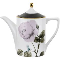 Ted Baker Rosie Lee Teapot - White (125 AUD) ❤ liked on Polyvore featuring home, kitchen & dining, teapots, kitchen, other, white tea pot, white teapot and ted baker
