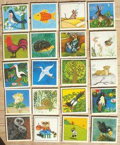 Vintage memory kaarten, 20 stuks, 1981, 5,5 x 5,5 cm, Ravensburger, karton, hobbymateriaal  [a] by LabelsAndMore on Etsy