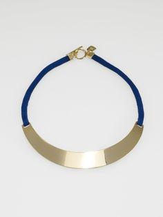 Suede & Gold Choker Necklace - Lauren Jewelry - RalphLauren.com