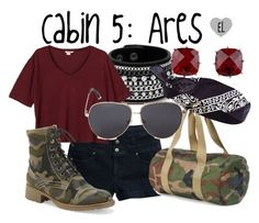 """Cabin 5: Ares -- Percy Jackson & the Olympians"" by evil-laugh ❤ liked on Polyvore featuring Tinsel, Red Herring, Monki, Aéropostale, Herschel, Les Néréides, Forever 21, River Island, percyjackson and camphalfblood"