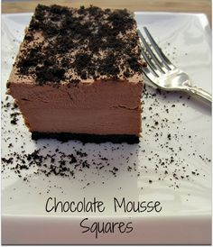 Chocolate Mousse Squares {Recipe} - Older Mommy Still Yummy
