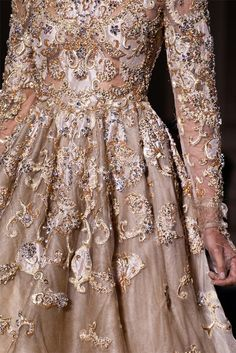 Detail at Valentino Haute Couture, spring 2012