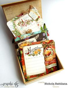 When not in use, the rest of the monthly mats are kept safely tucked away inside your mixed media box.