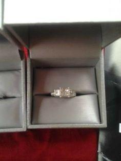 Zales 1 1/3 karat diamond ring and wedding band set - $2300