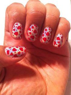 Color Club Holo nail polish and hearts!! :-)