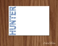 Personalized Flat Note Card Set - Kids Boys Custom Notecards - Personal…