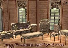 Mod The Sims - Adele~Persianesque Living & Regal Dining~Cottage