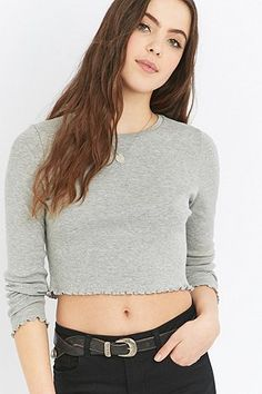 Urban Outfitters Lettuce Edge Long Sleeve T-shirt