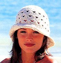 Virkattu reikäkuviollinen hattu ~ DROPS Design
