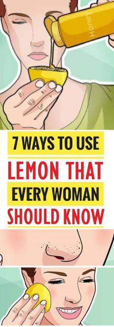 We all use lemon in