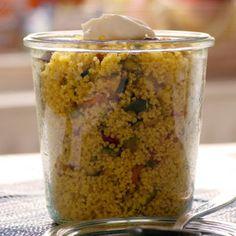 Zitronencouscous mit Currygemüse