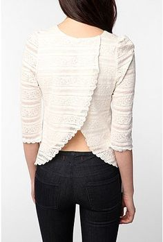 Great back for a re-make on a large sweater or old t-shirt.
