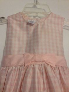 Perfectly Dressy Pink & White Checked Dress Size 4T  100% Silk Fully Lined #PerfectlyDressed #DressyEverydayHolidayPageantWeddingChurchCasualFormalParty