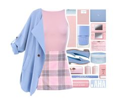"""""""Pastel Trench Coat"""" by xgracieeee ❤ liked on Polyvore featuring Isadora, Nicholas Kirkwood, Aveda, Nails Inc., Ted Baker, Stila, Pier 1 Imports, Nintendo, H&M and WithChic"""
