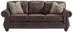 Faux Leather Queen Sleeper Sofa