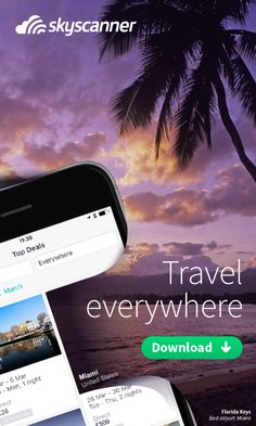 Looking for some inspiration for your next trip? Just tap 'everywhere' on Skyscanner's award winning app and see the best prices to anywhere in the world in seconds. Then go where the fancy takes you. Our all in one travel app lets you instantly search, compare and book cheap flights, hotels and car hire anytime, anywhere. Get inspired. Get the power of the world's travel search engine working for you. Try it today