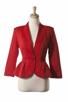 Jackie Jacket - Red | Tailor and Stylist via @Elsie Larson of A Beautiful Mess