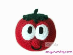 Crochet Pattern Inspired by Veggie Tales Bob The Tomato free pattern by Amigurumi To Go
