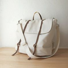 White + Canvas + Men's + Bag